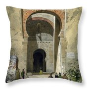 The Gate Of Justice Throw Pillow