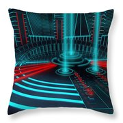 The Gate Of Power Throw Pillow