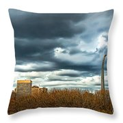 The Gateway Arch Downtown St. Louis Throw Pillow