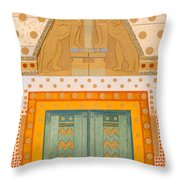 The Gateway Of Troy Throw Pillow