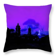 The Gathering In The Grave Yard Throw Pillow
