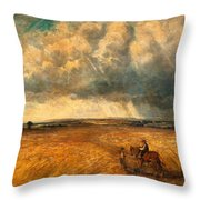 The Gathering Storm, 1819 Throw Pillow by John Constable