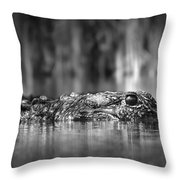 The Gator Throw Pillow