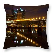 The Gay Street Bridge Throw Pillow