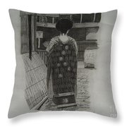 The Geisha Throw Pillow