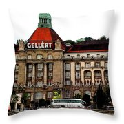The Gellert Hotel Throw Pillow