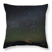 The Geminids Meteor Shower Streaks Throw Pillow