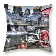 The General II Train Engine Throw Pillow