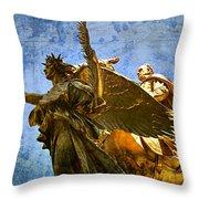 The Generals Golden  Angel Throw Pillow