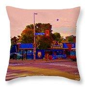 The Georgetown Sports Pub Soccer Bar Bank St The Glebe Paintings Of Ottawa Carole Spandau Artist Throw Pillow