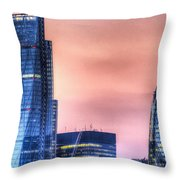 The Gherkin And The Cheesgrater London Throw Pillow