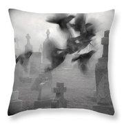 The Ghost Birds Throw Pillow