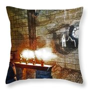 The Ghost Of Cathedral's Past Throw Pillow