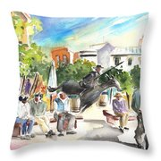 The Ghost Of Don Quijote In Alcazar De San Juan Throw Pillow