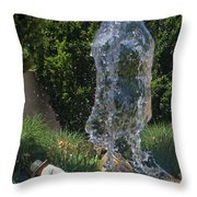 The Ghost Of Gardeners Past Throw Pillow