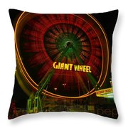 The Giant Wheel Spinning  Throw Pillow