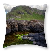 The Giant's Causeway - Peak And Pool Throw Pillow