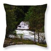 The Gift Of A Hidden Wterfall Throw Pillow by Jeff Swan