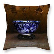 The Gilded Moon Throw Pillow by Bruno Capolongo