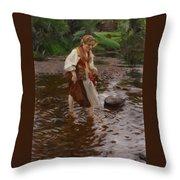 The Girl From Alvdalen Throw Pillow