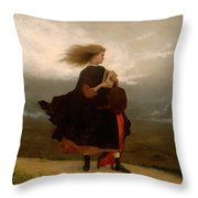 The Girl I Left Behind Me Throw Pillow