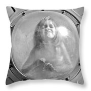 The Girl In The Bubble Throw Pillow