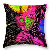 The Girl In The Glass Egg Throw Pillow