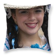 The Girl With The Panama Hat Throw Pillow