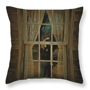 The Girl In The Window  Throw Pillow