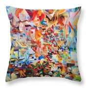 The Giving Of The Torah Throw Pillow