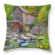 The Glade Grist Mill Throw Pillow