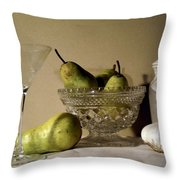 The Glass Is Empty Throw Pillow