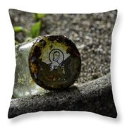 The Glass Jar From The Tsunami Throw Pillow