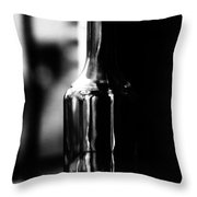 The Glass May Be Half Full Throw Pillow