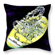 The Glass Scorpion Throw Pillow