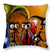 The Glass Suckers Throw Pillow