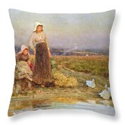 The Gleaners Throw Pillow