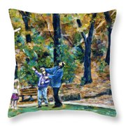 The Glider Throw Pillow