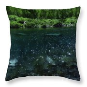 The Glimmer Of Maroon Lake Throw Pillow
