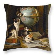 The Globertrotters Throw Pillow