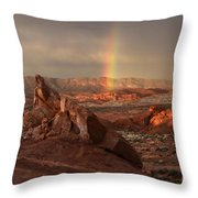 The Glory Of Sandstone Throw Pillow