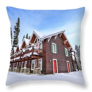 The Glory Of Winter's Chill Throw Pillow