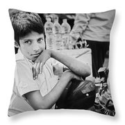 The Glow In His Eyes Throw Pillow