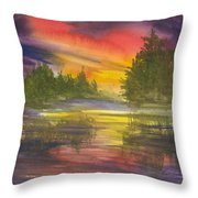 The Glow Of Maine Throw Pillow