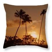 The Glow Of Sunset Throw Pillow