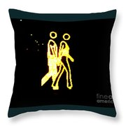 The Glowing Couple 2 Throw Pillow