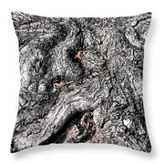 The Gnarled Old Tree Throw Pillow