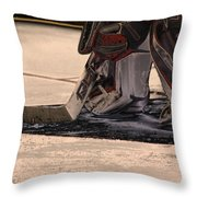 The Goalies Crease Throw Pillow