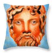The God Jupiter Or Zeus.  Throw Pillow