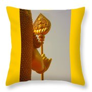 The God On His Quard Throw Pillow